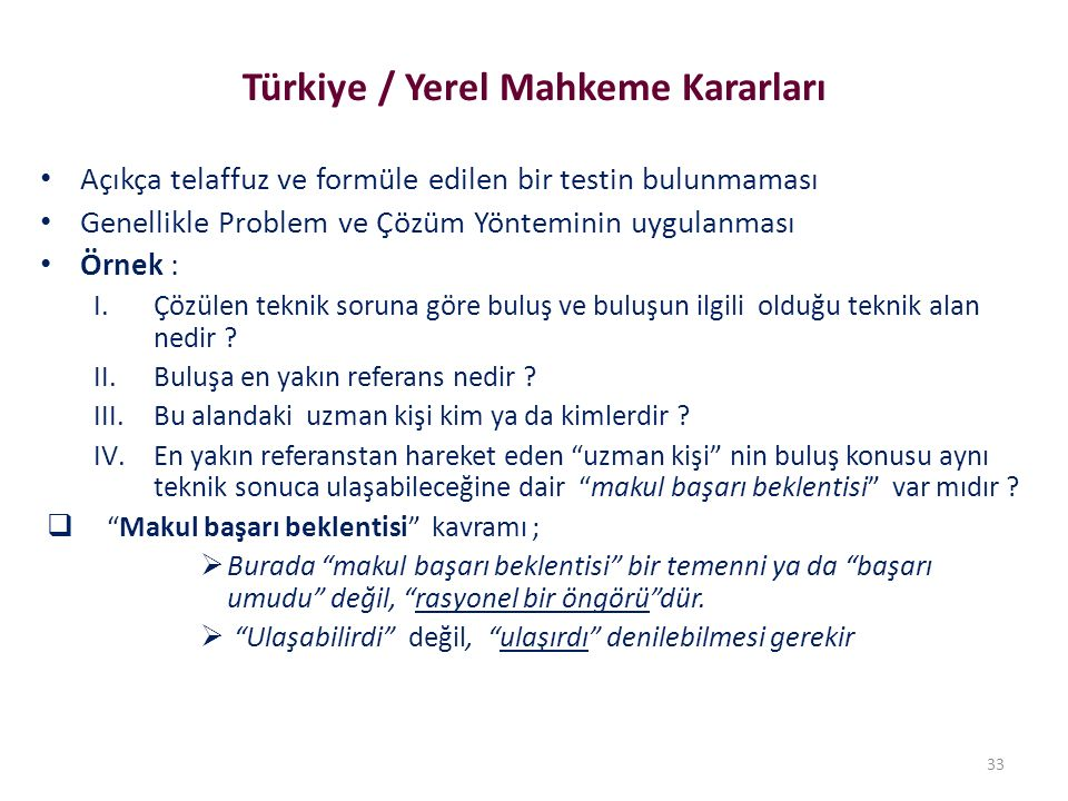Türkiye / Yerel Mahkeme Kararları