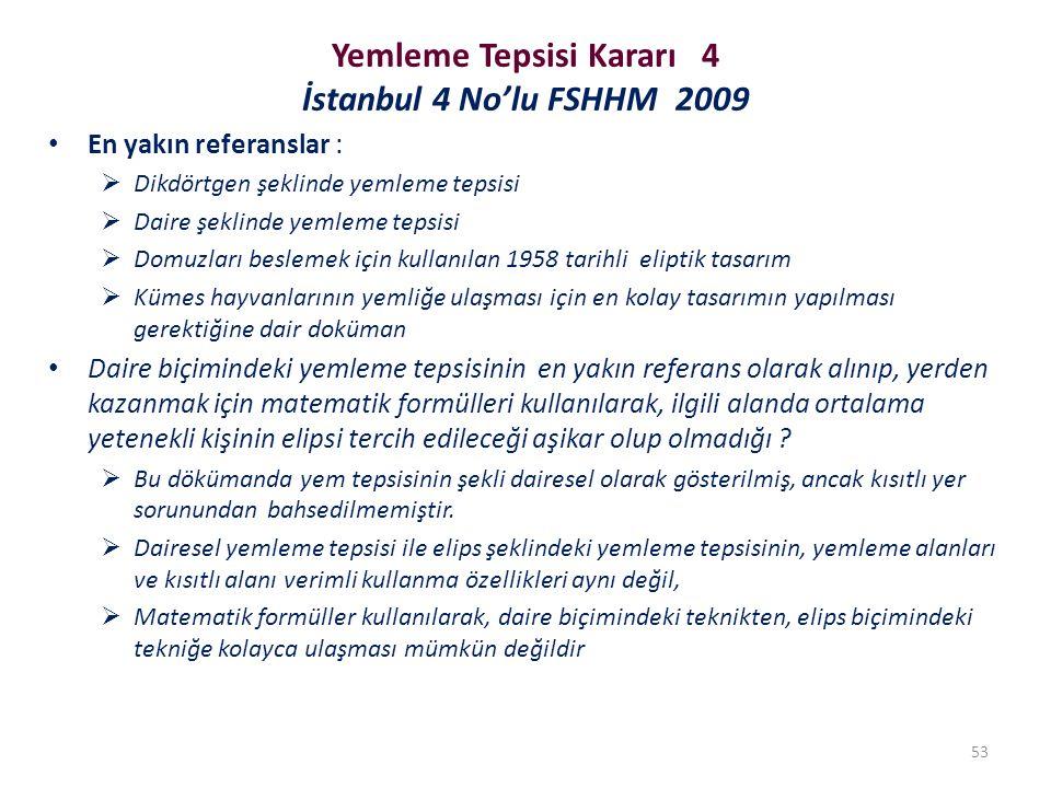 Yemleme Tepsisi Kararı 4 İstanbul 4 No'lu FSHHM 2009