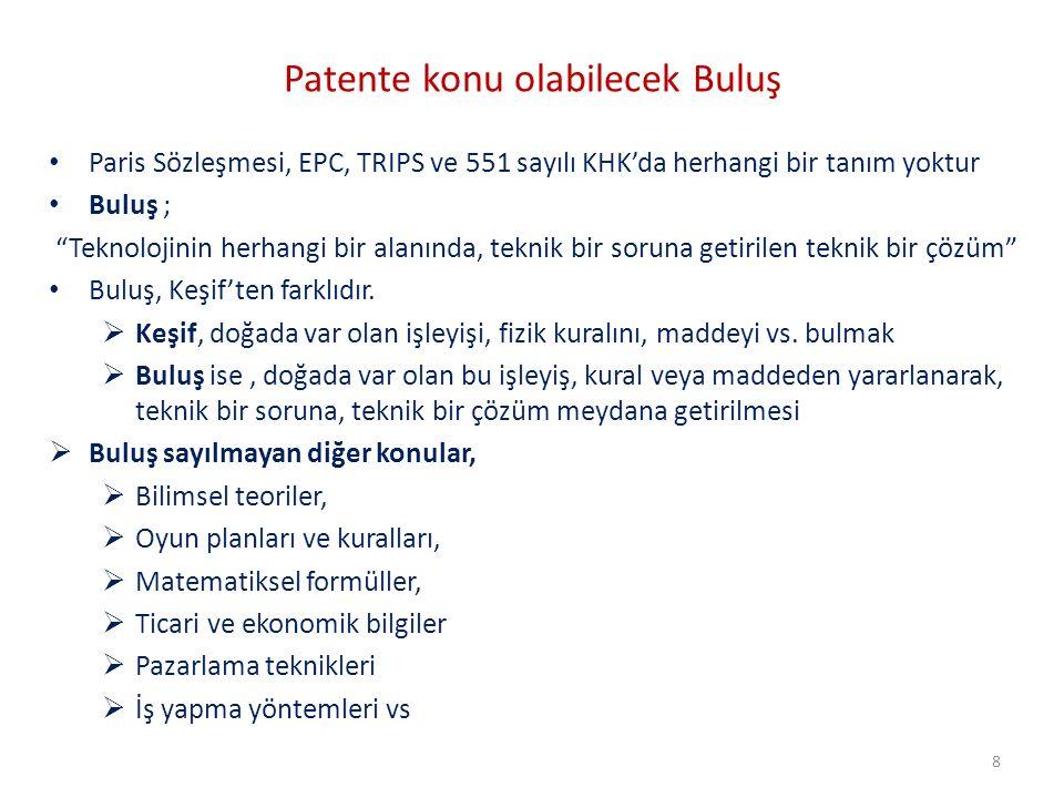 Patente konu olabilecek Buluş