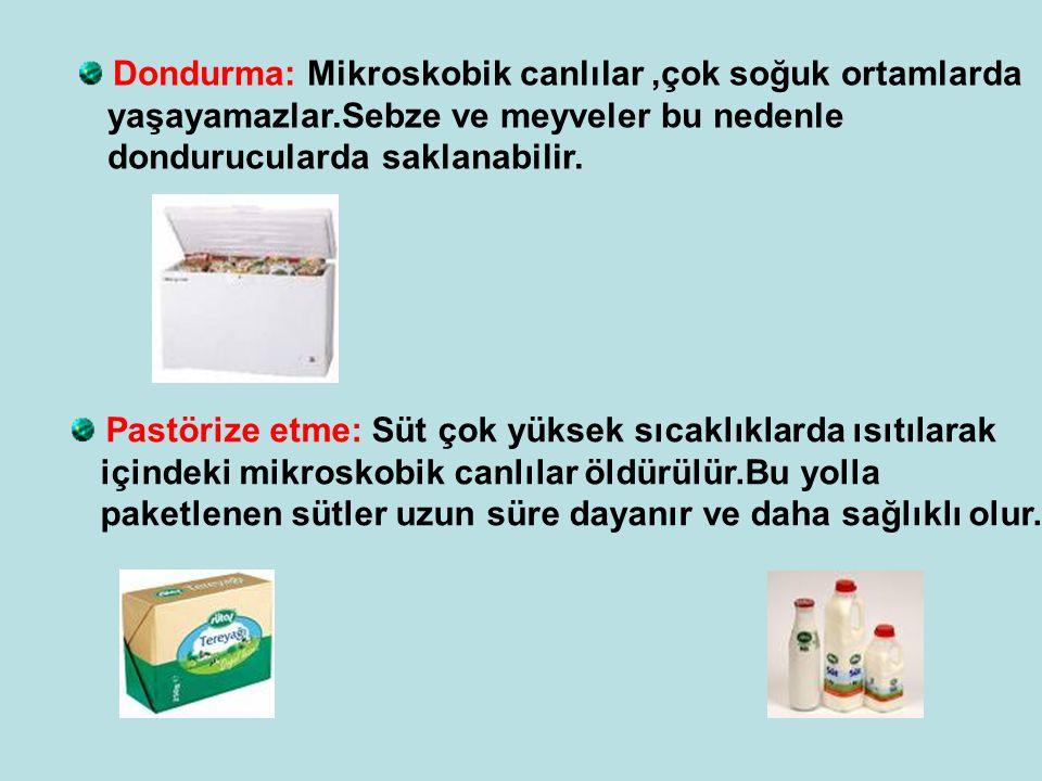 Dondurma: Mikroskobik canlılar ,çok soğuk ortamlarda