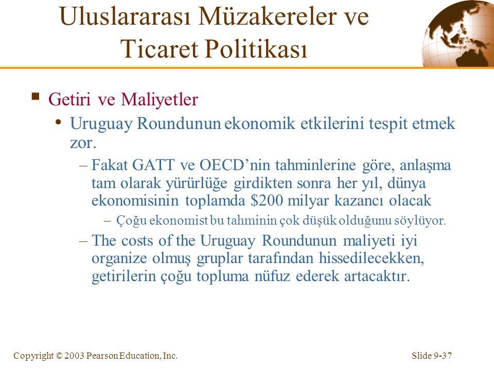 Uluslararası Müzakereler ve Ticaret Politikası