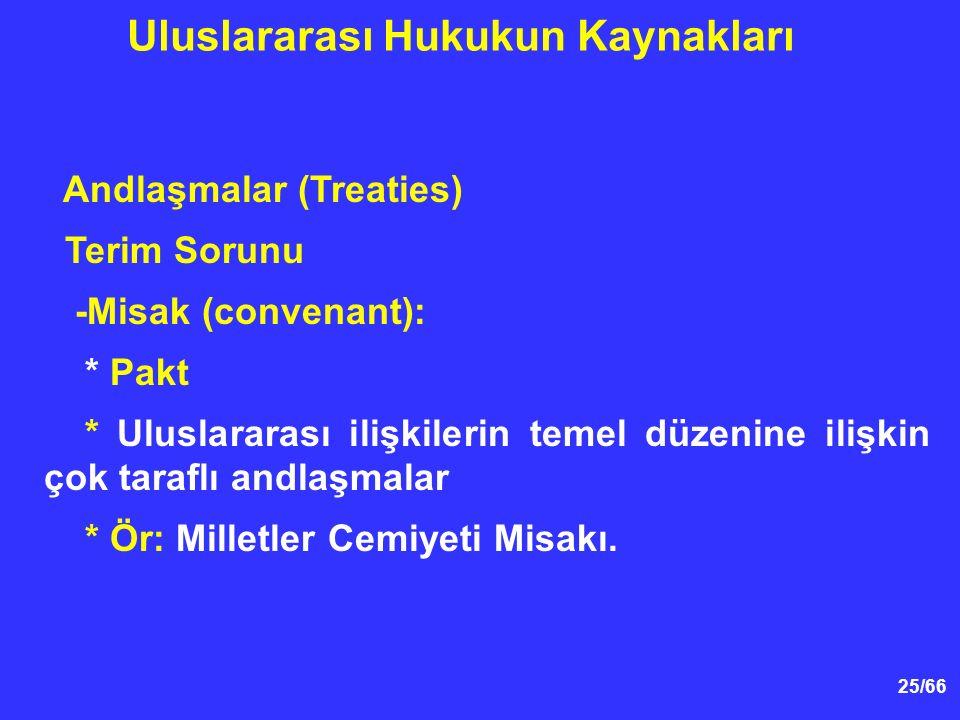 Uluslararası Hukukun Kaynakları