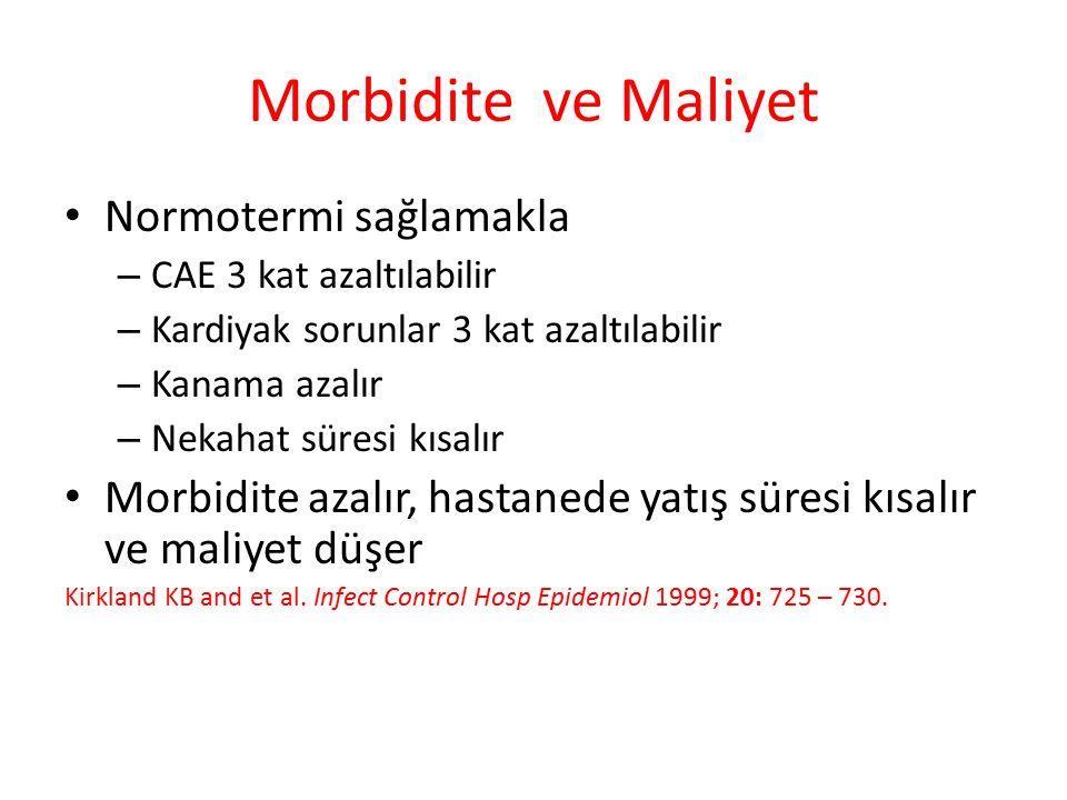 Morbidite ve Maliyet Normotermi sağlamakla