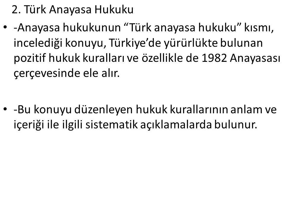 2. Türk Anayasa Hukuku
