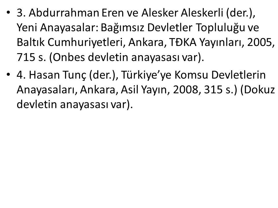 3. Abdurrahman Eren ve Alesker Aleskerli (der