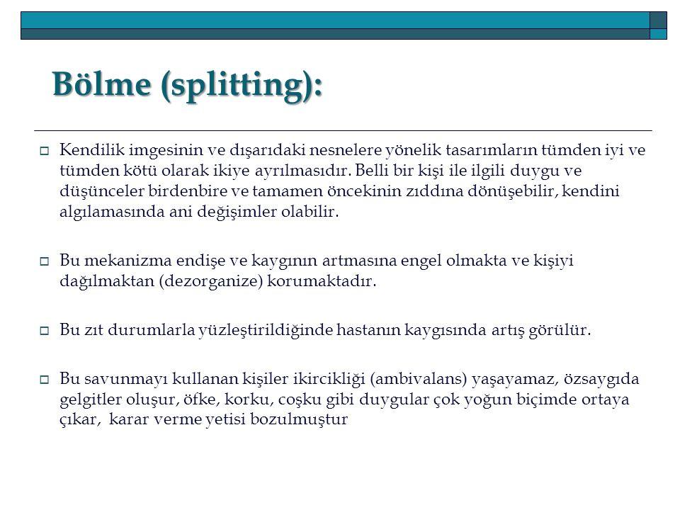 Bölme (splitting):