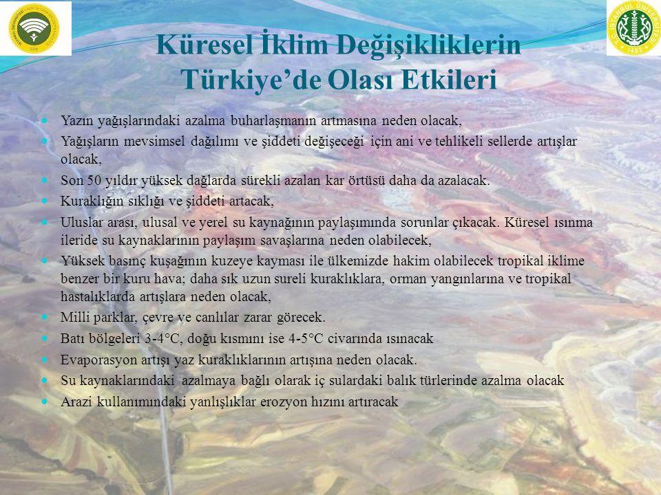 Küresel İklim Değişikliklerin Türkiye'de Olası Etkileri