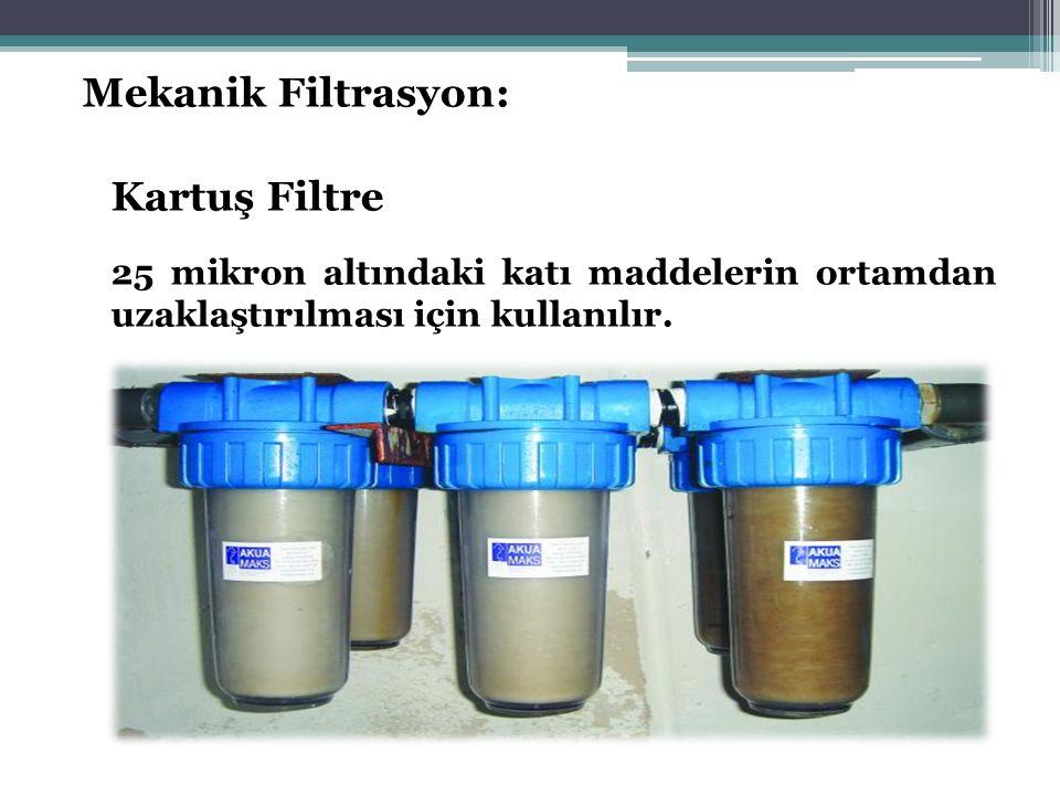 Mekanik Filtrasyon: Kartuş Filtre