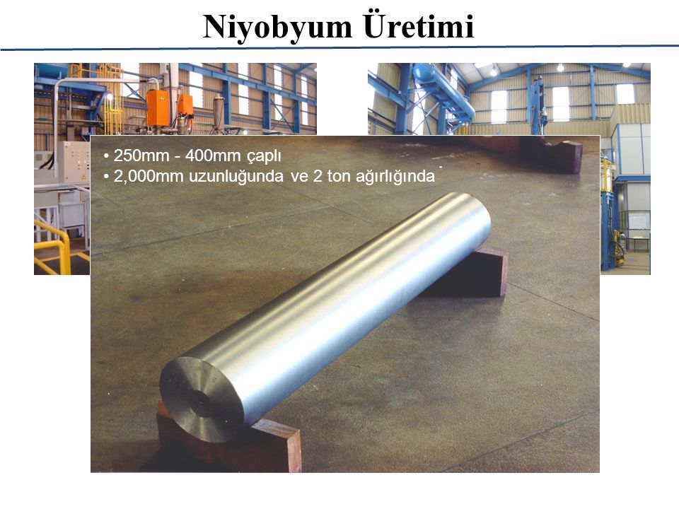Niyobyum Üretimi 250mm - 400mm çaplı