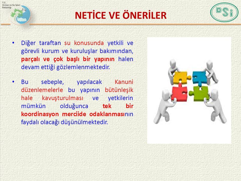 NETİCE VE ÖNERİLER