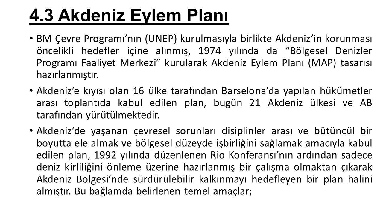 4.3 Akdeniz Eylem Planı