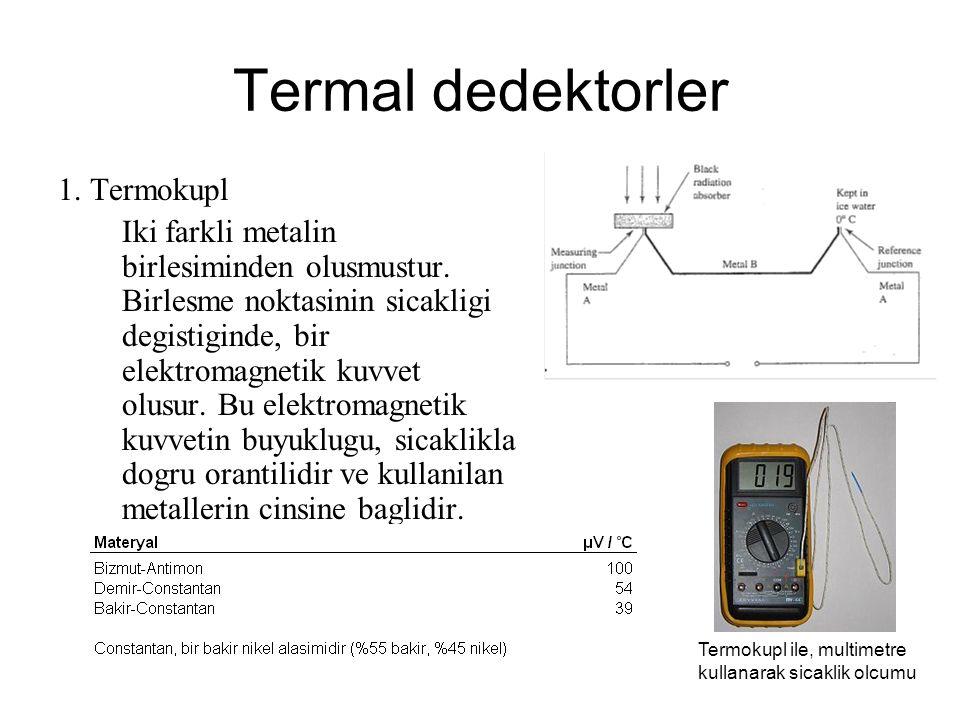 Termal dedektorler 1. Termokupl