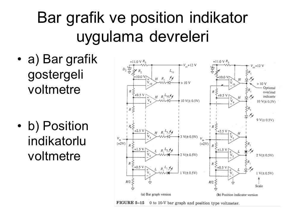 Bar grafik ve position indikator uygulama devreleri
