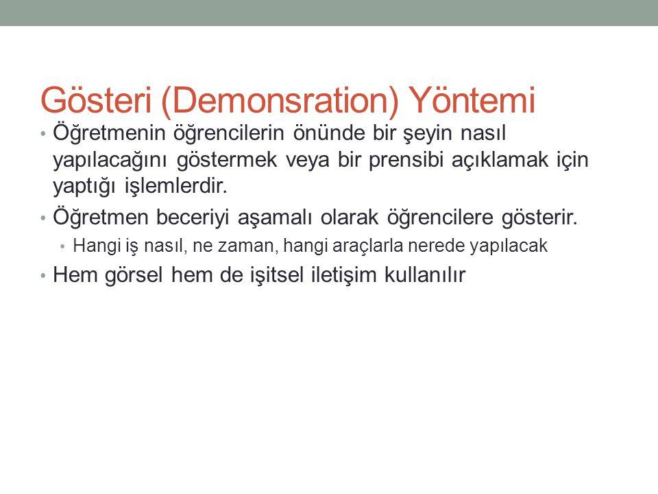 Gösteri (Demonsration) Yöntemi