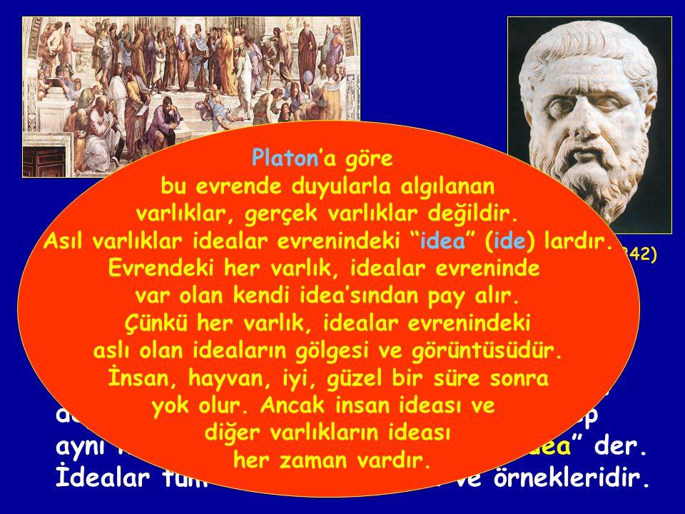 İdealar kuramının kurucusudur ve idealizmin de kurucusu sayılır.