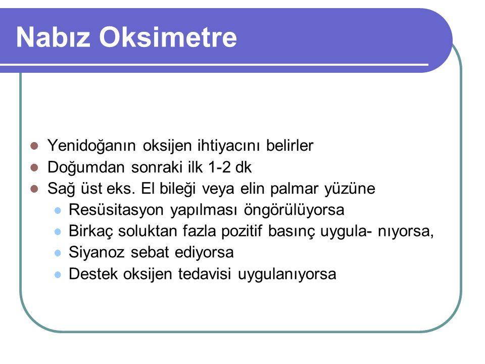 Nabız Oksimetre Yenidoğanın oksijen ihtiyacını belirler