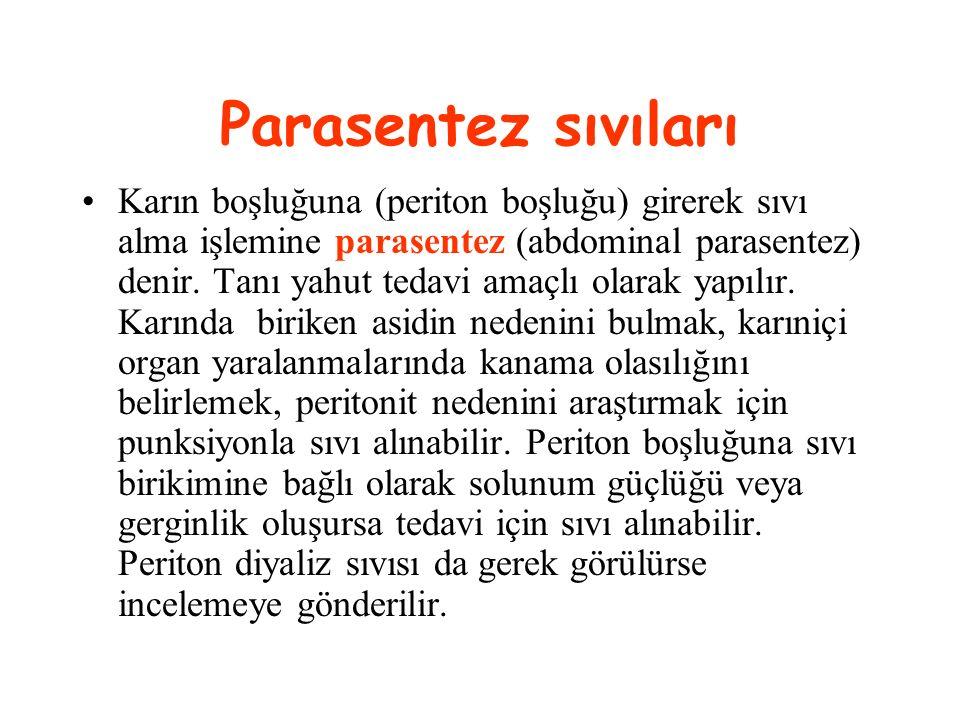 Parasentez sıvıları