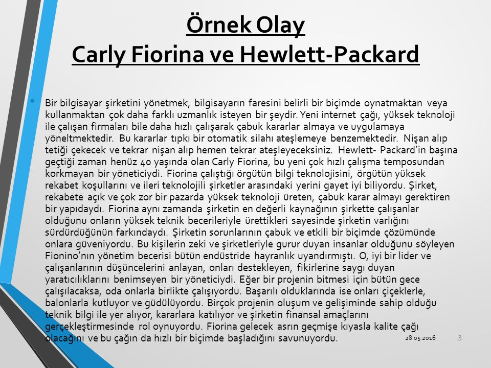 Örnek Olay Carly Fiorina ve Hewlett-Packard