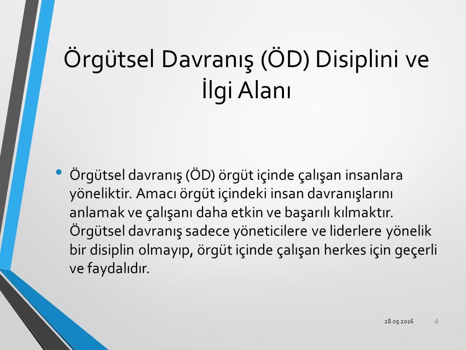 Örgütsel Davranış (ÖD) Disiplini ve İlgi Alanı