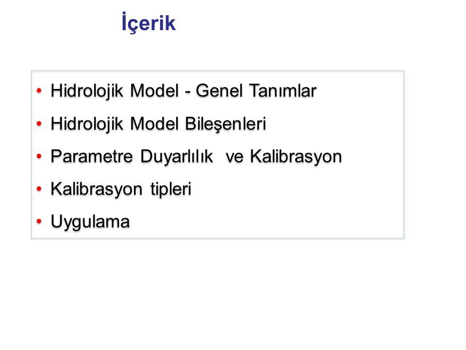 İçerik Hidrolojik Model - Genel Tanımlar Hidrolojik Model Bileşenleri