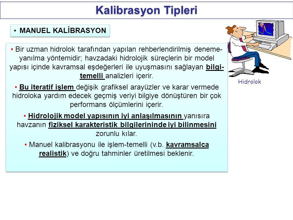 Kalibrasyon Tipleri MANUEL KALİBRASYON