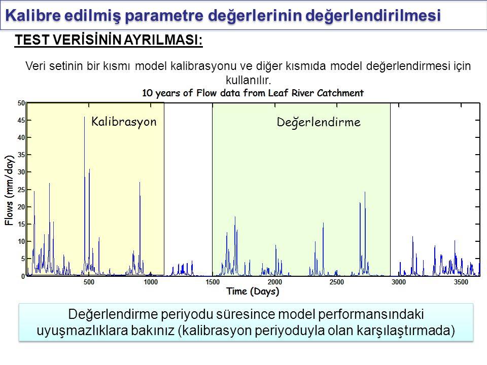 Kalibre edilmiş parametre değerlerinin değerlendirilmesi