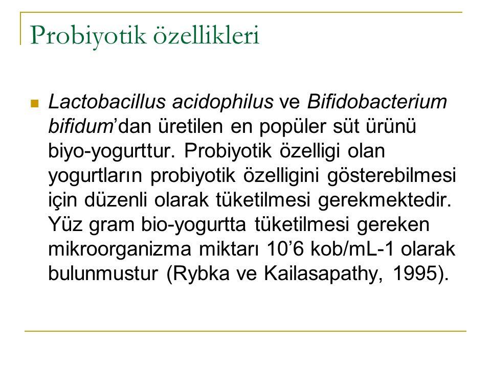 Probiyotik özellikleri