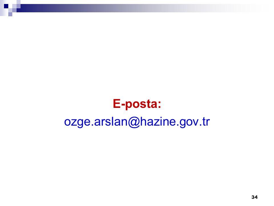 E-posta: ozge.arslan@hazine.gov.tr