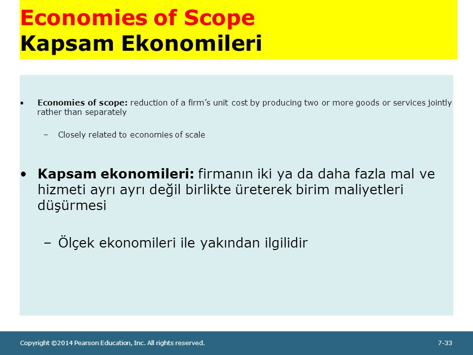 Economies of Scope Kapsam Ekonomileri