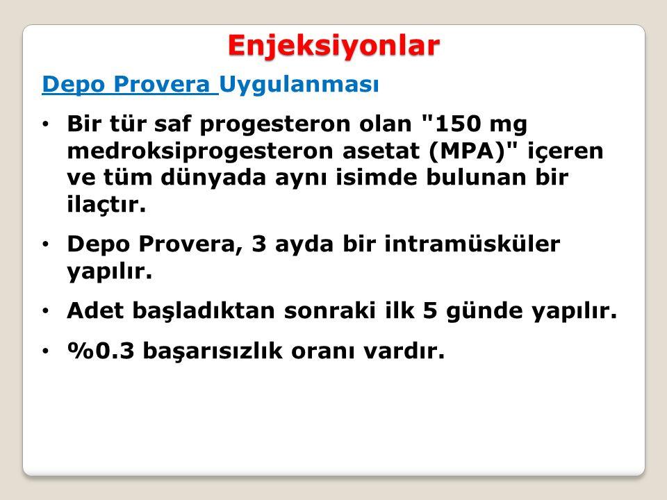 Enjeksiyonlar Depo Provera Uygulanması