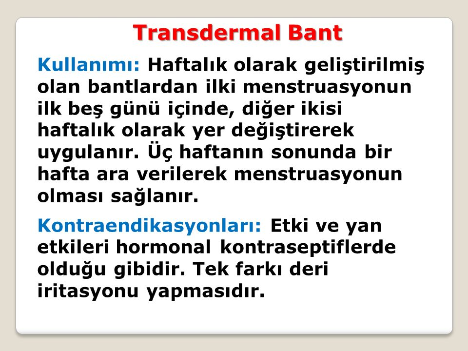 Transdermal Bant