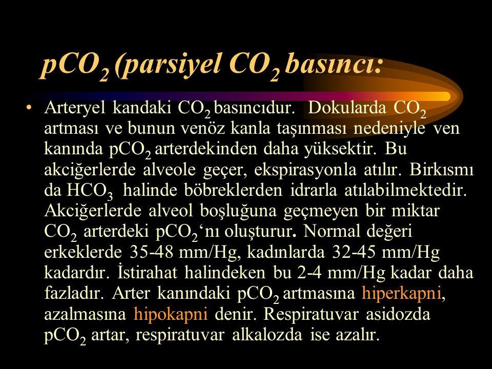 pCO2 (parsiyel CO2 basıncı: