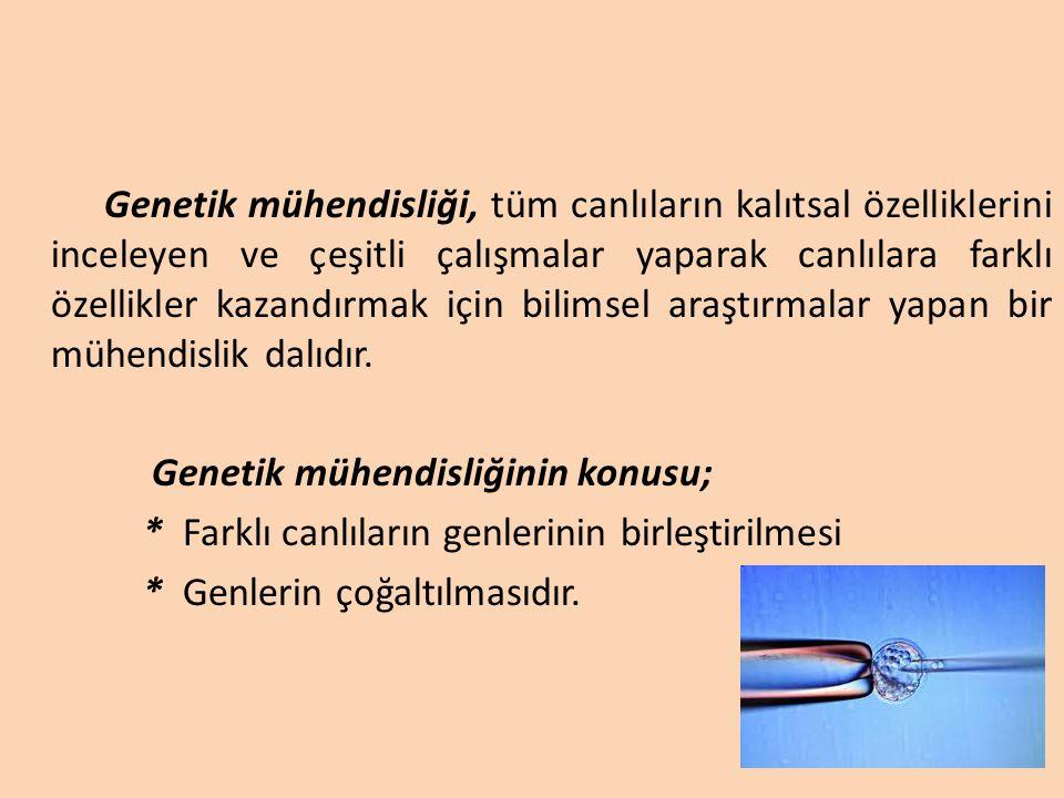 Genetik mühendisliğinin konusu;