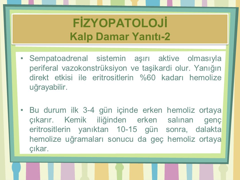 FİZYOPATOLOJİ Kalp Damar Yanıtı-2