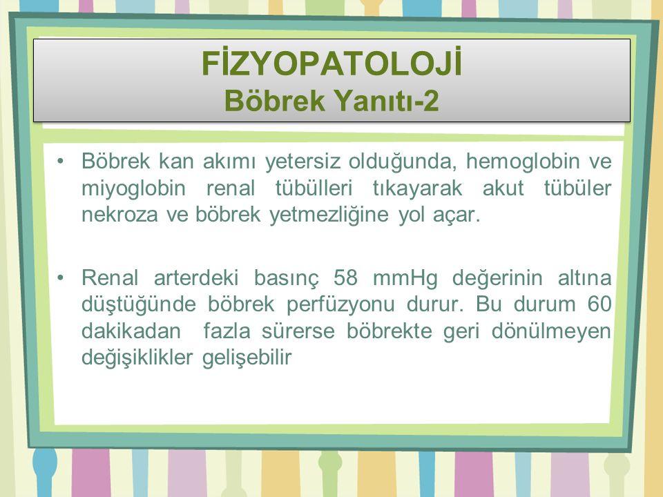 FİZYOPATOLOJİ Böbrek Yanıtı-2