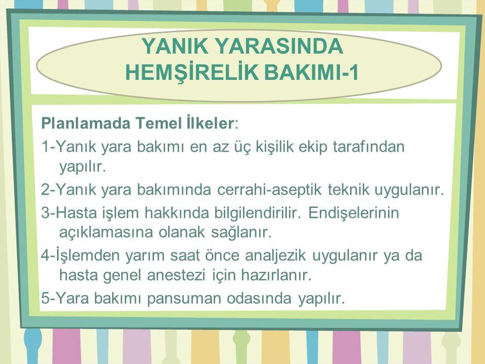 YANIK YARASINDA HEMŞİRELİK BAKIMI-1