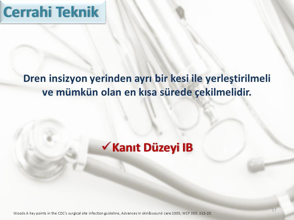 Cerrahi Teknik Kanıt Düzeyi IB