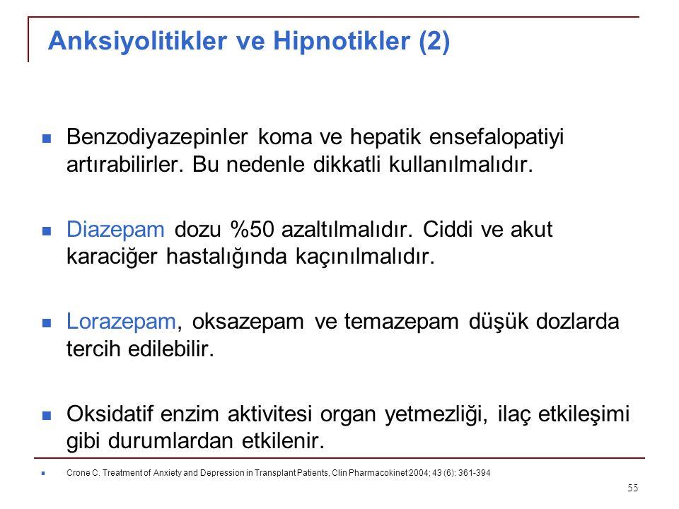 Anksiyolitikler ve Hipnotikler (2)
