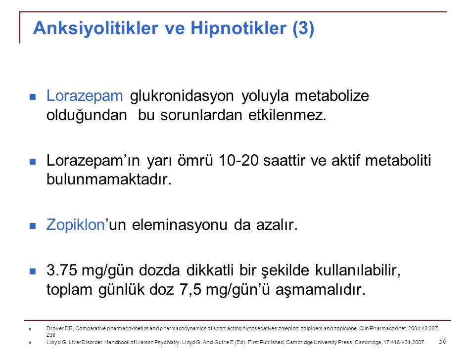 Anksiyolitikler ve Hipnotikler (3)