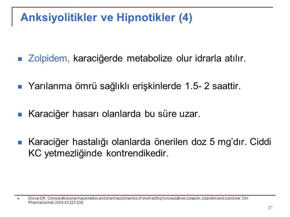 Anksiyolitikler ve Hipnotikler (4)