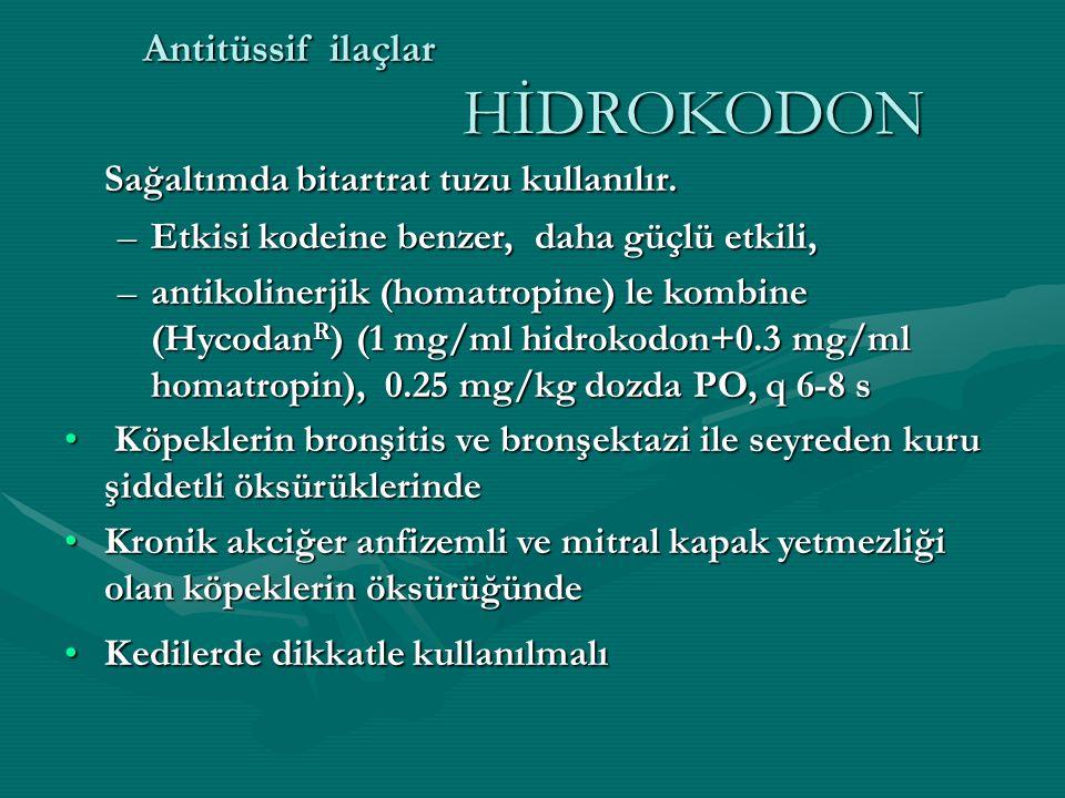 Antitüssif ilaçlar HİDROKODON