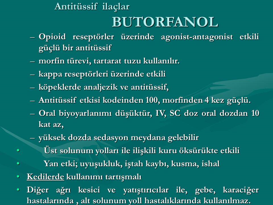 Antitüssif ilaçlar BUTORFANOL