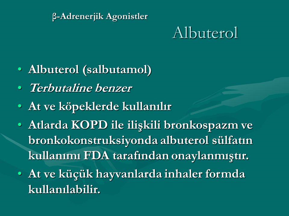 β-Adrenerjik Agonistler Albuterol