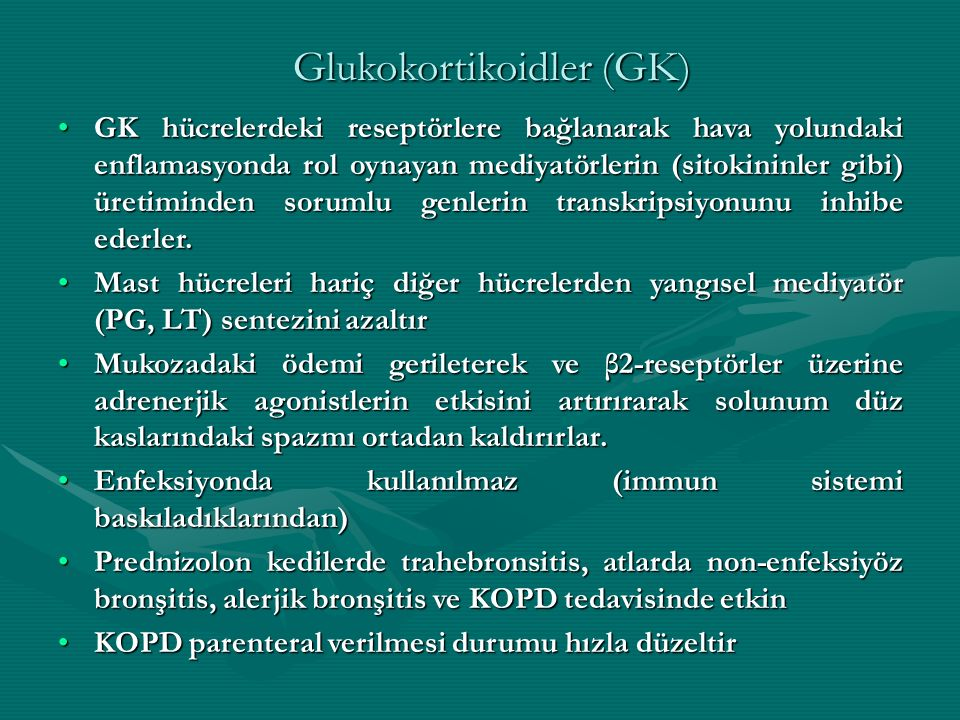 Glukokortikoidler (GK)