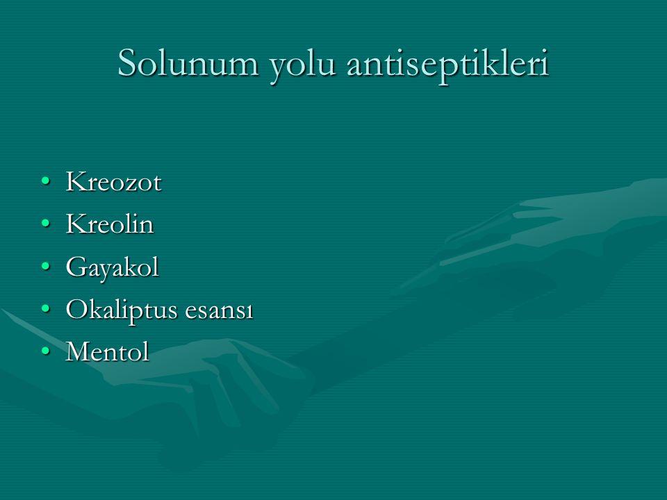 Solunum yolu antiseptikleri