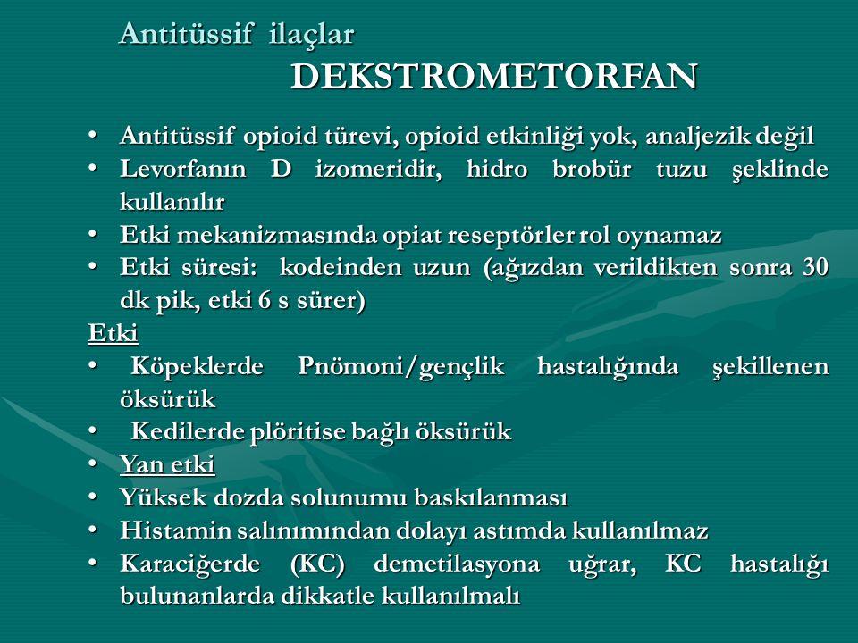 Antitüssif ilaçlar DEKSTROMETORFAN