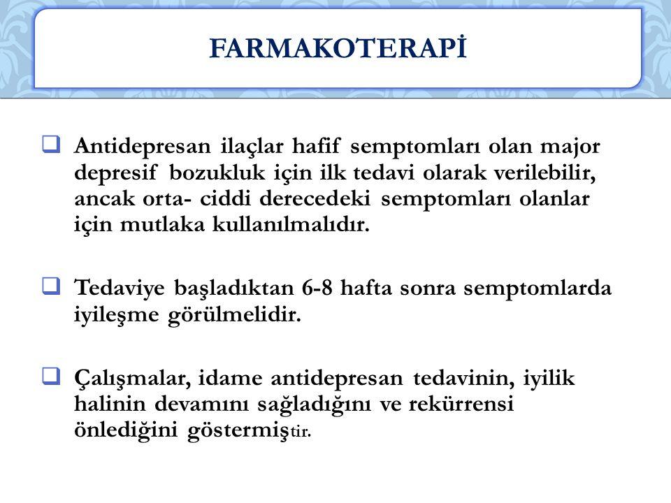 FARMAKOTERAPİ