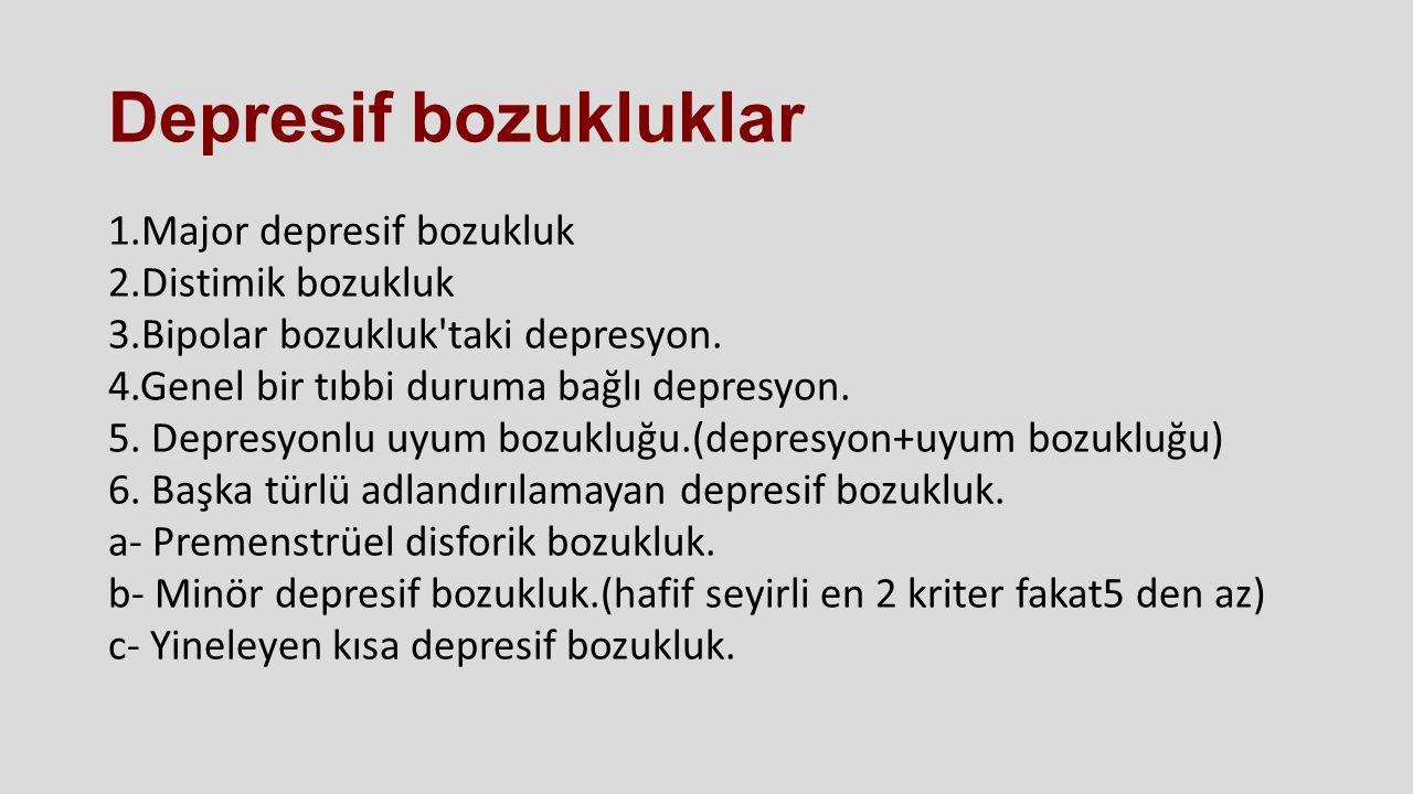 Depresif bozukluklar