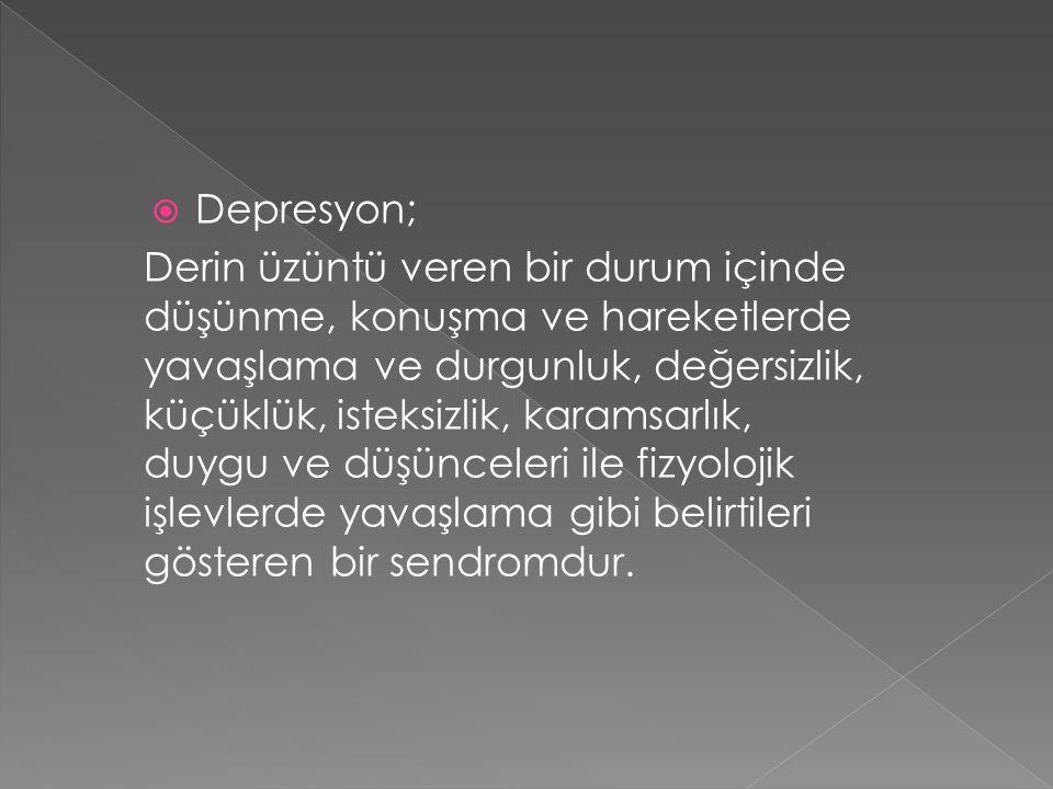 Depresyon;