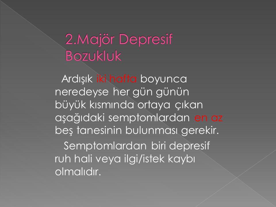 2.Majör Depresif Bozukluk